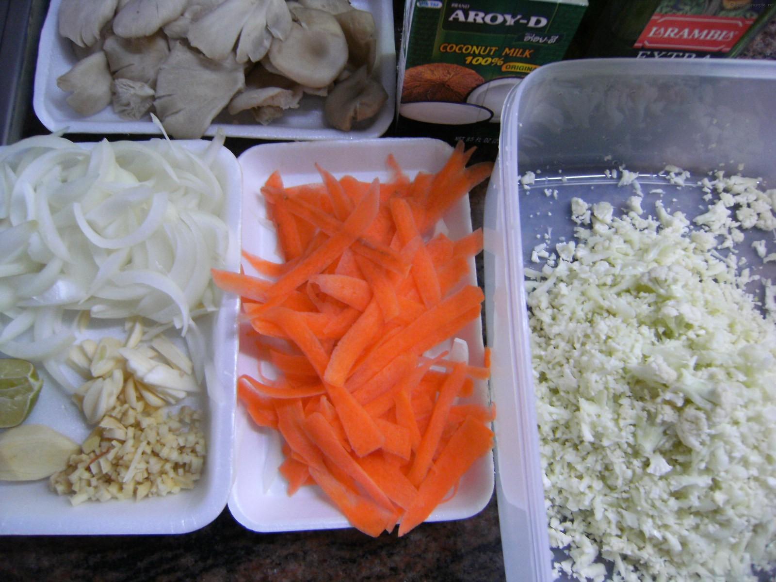 Zutaten für Lasagne vegetarisch