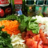 Zutaten für Tomatensoße für Pizza und Pasta
