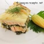 Lachslasagne mit Spinat