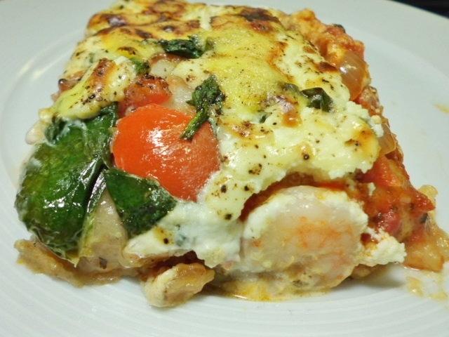 spinat lasagne mit tomaten garnelen und einer mascarponesauce. Black Bedroom Furniture Sets. Home Design Ideas