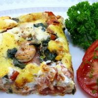 Spinat-Lasagne mit Garnelen